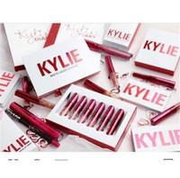 2017 nueva edición 6pcs de la tarjeta del día de San Valentín de Kylie Jenner Lipkit un regalo determinado DHL de la tarjeta del día de San Valentín de la alta calidad del lápiz labial libera