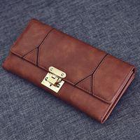Women Long Wallet PU Leather Handbag Flap Wallet Clutch Bag ...