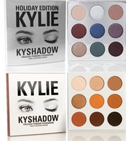 Kylie édition de vacances Kyshadow jenner Kit anniversaire ombre à paupières nue palette Cosmétiques poudre ombre à paupières Maquillage Bronzer Palette ensembles 9 couleurs