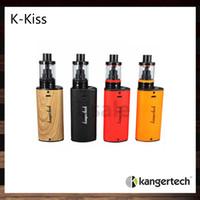 Kanger K-Kiss Kit de démarrage avec 4,5 ml Top Remplissage K-Kiss Tank 6300mah Batterie Nouveau symétrique Air Flow Design 100% Original
