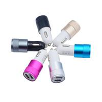 Порт USB Мини Металл Автомобильное зарядное устройство Универсальный Dual для цифровых продуктов Свет Зарядка Лучший Plug адаптер