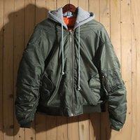 2017 Inverno Vetements Thick Verde Ma1 jaqueta Hiphop Mulheres Homens Casaco de algodão acolchoado Oversized Casaco Unisex Inverno Roupas