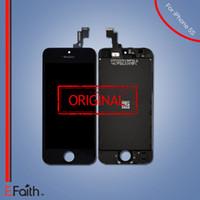 Pour Original Noir LCD Ecran Tactile Digitizer Full Assembly pour iPhone 5S pièces de rechange de réparation Livraison gratuite
