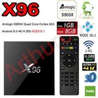 X96 Android 6.0 TV Box Amlogic S905X Quad Core Marshmallow Mini PC 1GB / 8GB H.265 WIFI 4K * 2K UHD HDMI 1080p Bluetooth Kodi Smart Media Player