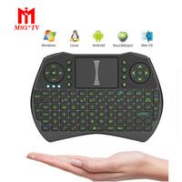 M95® I9 Mini Wireless Keyboard with Green LED Backlit 2. 4GHz...