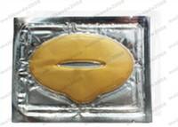 2017 caliente de las mujeres de la proteína del colágeno del oro que hidrata la película del labio para la máscara cristalina del labio del colágeno del invierno ENVÍO LIBRE MYY