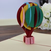 Love balloon popup card kid' s birthday invitation card ...