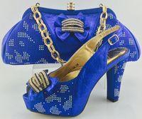 2017 New arrival fashion Italian shoes and bag set for weddi...
