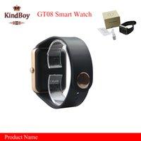 GT08 Smart Watches smartwatch avec slot pour carte SIM DZ09 A1 U8 et NFC Health Watchs pour Android Samsung et IOS iphone