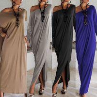 2017 Printemps Eté Femmes Vêtements Mode Robe Longue Manche Maxi Robe Irrégulière Plus Taille Oversize Loose Robes