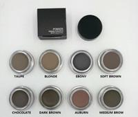 2017 Eyebrow Pomade Maquillage Waterproof sourcil Enhancers 4g Blonde / Chocolat / brun foncé / ébène / Auburn / brun moyen / TALPE avec paquet de détail