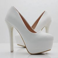 Women shoes pearls heels pumps for women elegant shoes thin ...
