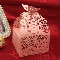 Wedding favor box laser cut floral party box favor multi col...
