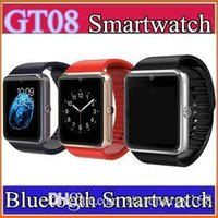 50X GT08 Bluetooth Smart Watch A1 DZ09 avec carte SIM Slot et NFC Health Watchs pour Android Samsung et IOS iphone Smartphone Bracelet C-BS