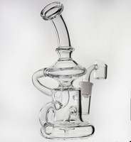 Recycleur de verre de 7,5 po Elvis Klein bong de verre 2017 Dernière plate-forme de pétrole en verre dab 10 pouces recycler tuyau d'eau narguilés joint de 14,5 mm