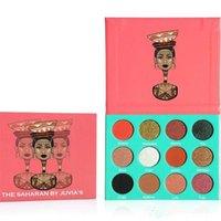 Le SAHARAN BY JUVIA's Nubian Edition Ombre à paupières palette de surligneur 12 couleurs Maquillage Ombre à paupières Palette Haute Qualité