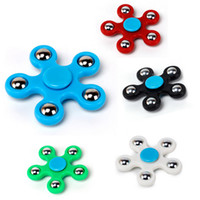 2017 5 boules Plastique EDC Spinner Funny Anti Stress Toys Fidget Spinner Desk Anti Stress Finger Spin Spinning Top EDC Sensory Toy Cube Gift