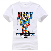 New Fashion T- shirt Brand Clothing Just Do It Letter Print M...