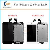 Ensemble complet pour Apple iPhone 6 pour iphone 6 Plus Moniteur LCD à écran tactile + appareil photo avant + bouton Home avec DHL Livraison gratuite