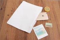 10pcs lot 28*20cm White Canvas Clutch Bag Purse Handbag File...