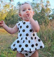 Baby Girls Summer Cotton Dot Ruffles Clothing Sets Outfit In...