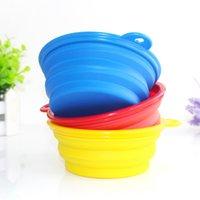 Silicone Foldable Pet Bowl Portable Dog Food Water Bowls Fol...