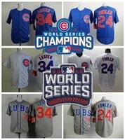 2016 World Series Champions Chicago Cubs Baseball Jerseys 34...