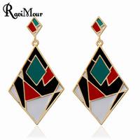 RAVIMOUR Long Earrings for Women Fashion Jewelry Brincos Pun...