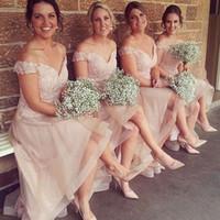 Весна 2017 Новый дизайн платья Bridesmaid плеча Формальное горничной честь гостей свадьбы Bridesmaids партии халатах Дешевые Пользовательские