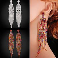 U7 déclaration long chandelier Boucles d'oreilles Drop Bohemian Party Accessoires Bijoux Fashion Tassel Dangle boucles d'oreilles pour les femmes Perfect Gift
