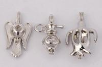 WG42 Bijoux Teboer 20pcs Vente en gros Pendentifs perles Love Cages Vente en gros Styles mélangés