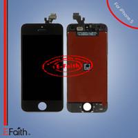 Pour l'iphone 5 5G affichage noir d'affichage à cristaux liquides avec le numériseur d'écran tactile Livraison gratuite de DHL