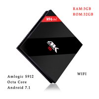 H96 Pro + 3G / 32G Flash Wifi CA 4K Amlogic S912 Octa Núcleo Android 7.1 BT4.1 Smart Android TV Box
