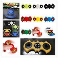 7 цветов ABS Bat HandSpinner Fingertips Спиральные пальцы Гироскоп Torqbar Неподвижная спиннинг Подшипник из нержавеющей стали с розничной коробкой Drop ship