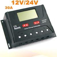 Хорошее качество PWM солнечный контроллер 30A Солнечный регулятор 12V 24V ЖК-дисплей USB 5V солнечной панели зарядки регулятор зарядное устройство