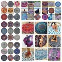Round Bikini Beach Cover Ups Indian Mandala Beach Towel Bohe...
