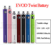 EVOD Twist Battery Cigarette électronique Ego C Variable Voltage 650 900 1100mah Pour EVOD MT3 CE4 Atomizer 510 Thread Atomizer Kit E cigarette