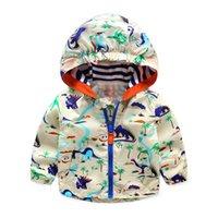 Acitonclub 2016 Baby Boys Jackets Children Hooded Dinosaur P...