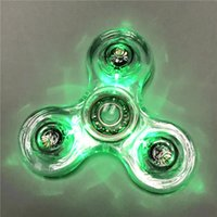 Clear Led Fidget Spinner Luminous Transparent Hand Spinner C...