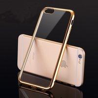 Для iPhone 7 6S 5S SE Мягкий чехол ТПУ Зеркало Гальваническим ультра тонкий телефон Мягкий гель задняя крышка для iPhone7 i7 Shell