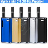 Authentic Mystica mini 510 CBD Boîte kit de démarrage vaporisateur O stylo CE3 Atomiseur Cartouche BUD touch H10 Bin THC réservoir vapeur vapeur mods e cigs DHL