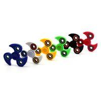 ABS HandSpinner Fingertips Doigts en spirale Gyro Torqbar Hot Wheel Fidget Spinner Décompression Jouets 6 Couleurs OOA1397