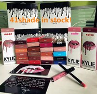 5pcs NUEVOS 41 colores KYLIE JENNER LIP KIT regulares de San Valentín vixen boujee Kylie Lipliner Liquid Matte Labial Red Velvet Lip Gloss