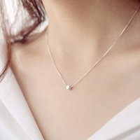 S925Silver box clavicle necklace Do not fade Prevent allergy...