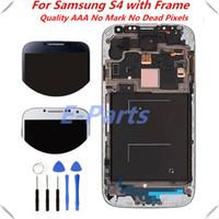 1Pcs Pour Samsung Galaxy S4 I337 I545 I9500 I9502 I9505 E300K E300S Ecran LCD Ecran tactile Numériseur avec cadre Assemblage Outils ouverts