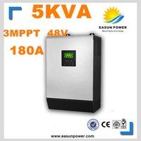 Горячее надувательство солнечного инвертора 5Kva 4000W с инвертора сетки 48V к инверторам 220V 180A 3 MPPT Чисто инвертор синуса инвертора 60A AC