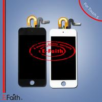 Écran tactile de l'affichage d'OEM LCD de 10PCS / Lot avec l'assemblage complet de numériseur pour le contact 5 5G d'iPod ÉMISSION LIBRE de DHL