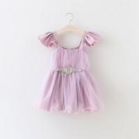 High Quality Baby Princess Dress Tutu Skirt Girls Petal Slee...