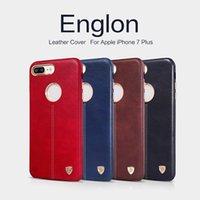 Étui de téléphone cellulaire de série de NILLKIN Englon pour l'iphone 7 Étui de protection de cuir d'affaires pour le commerce libre de coquille de téléphone portable de 7plus par DHL