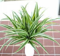 Artificial Fake Plastic Green Leaves Grass Plant Home House ...